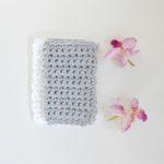 New White and Grey Crochet Washcloths