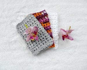 Three Washcloths Orchids 2