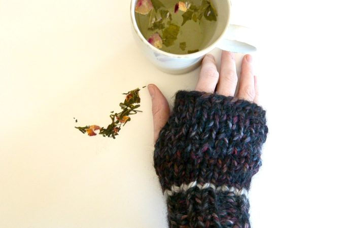 Coal Miner's Fingerless Mitts