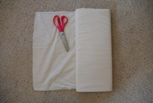 Measure and cut your tea towels to the size you like