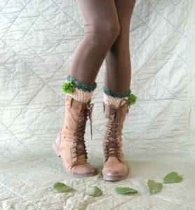 St Patricks Day Crochet Boot Cuffs 1