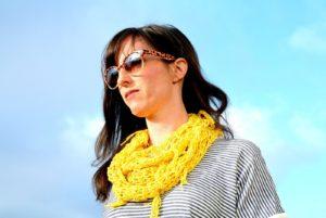 Beginner Crochet Spring Scarf