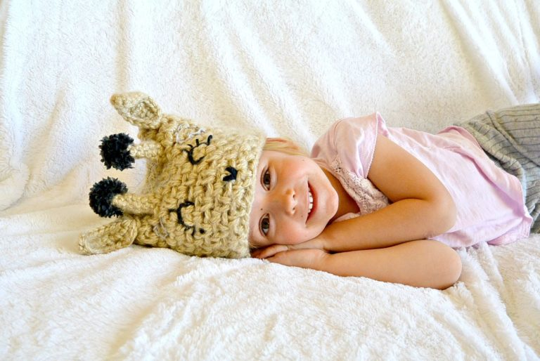 Easy Crochet Giraffe Hat
