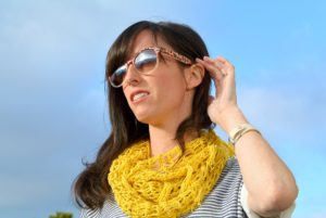 Easy Lacy Crochet Scarf
