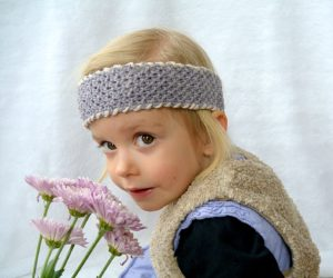 Easy Seed Stitch Headband