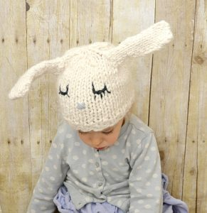 Knit Bunny Hat 2