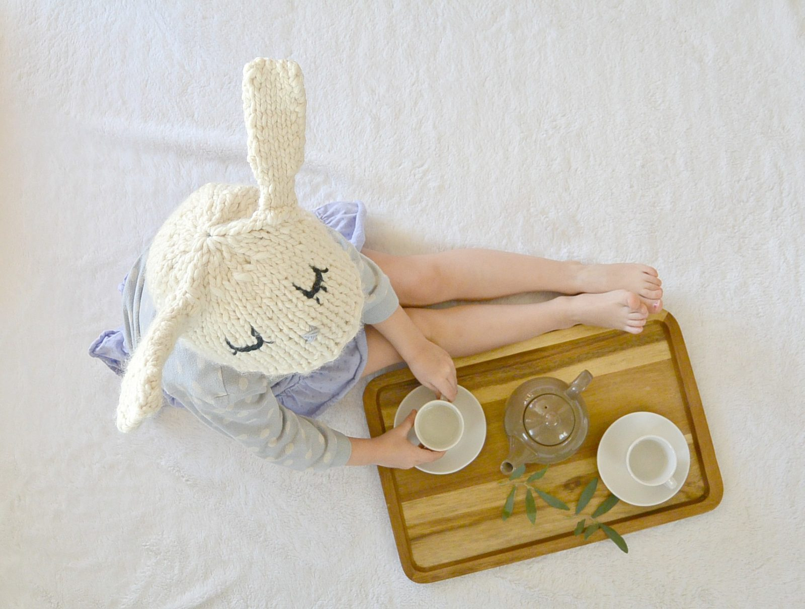 Knit bunny hat 6