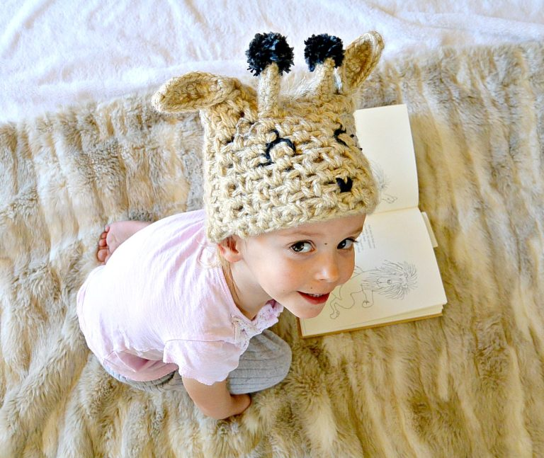 Toddler Crochet Giraffe Hat