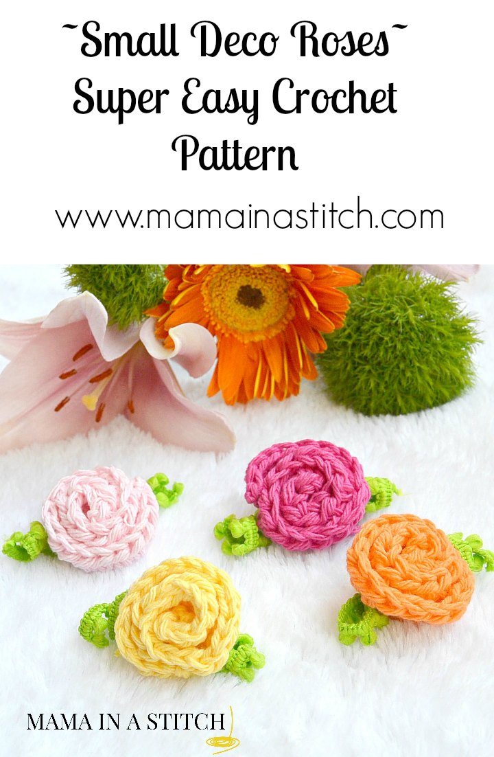 Little Crochet Deco Roses – Mama In A Stitch