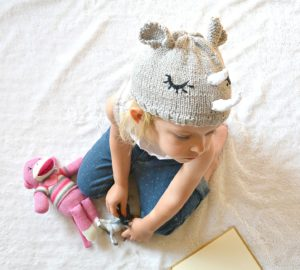 Easy rhino knit hat
