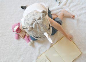 Knit Baby Rhino Hat