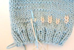 Last step duplicate stitch