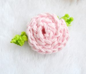 Pink Crochet Deco Rose Pattern