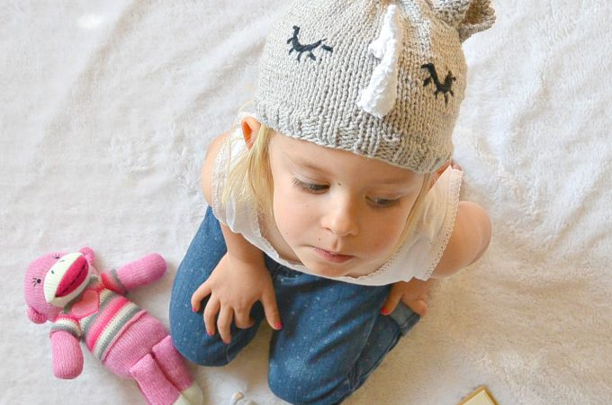 Knit Rhinoceros Hat