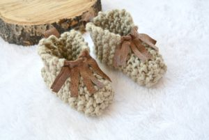 Beginner Knit Mocassin Booties