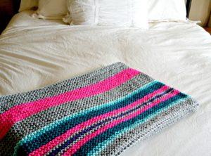 Beginner Serape Style Knit Blanket