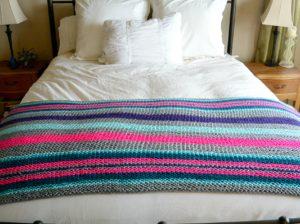 Beginner Stripes Native Knit Blanket