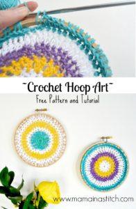 Crochet Hoop Art