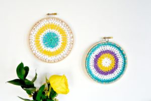 Easy Crochet Mandala Hoops