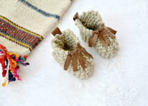 Easy Knit Mocassin Booties