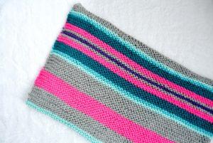 Native Stripes Easy Knit Blanket