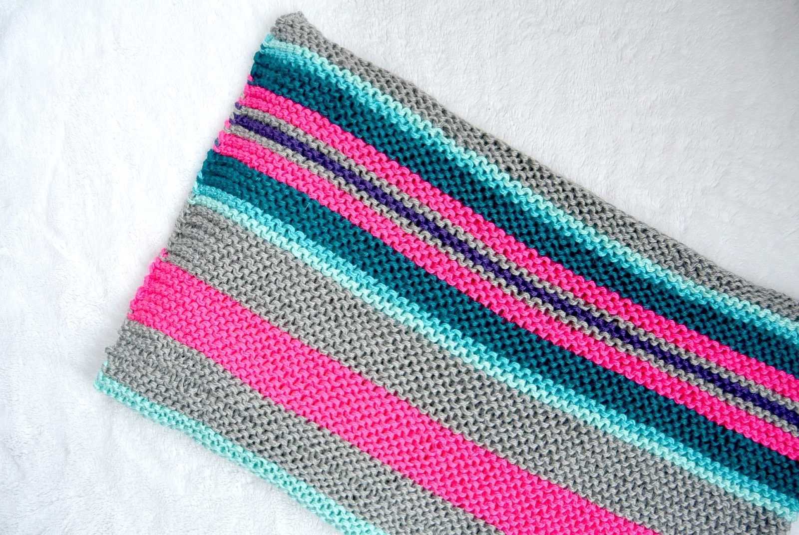 Easy Knit Blanket How To : Easy Native Stripes Knit Blanket / Throw   Mama In A Stitch