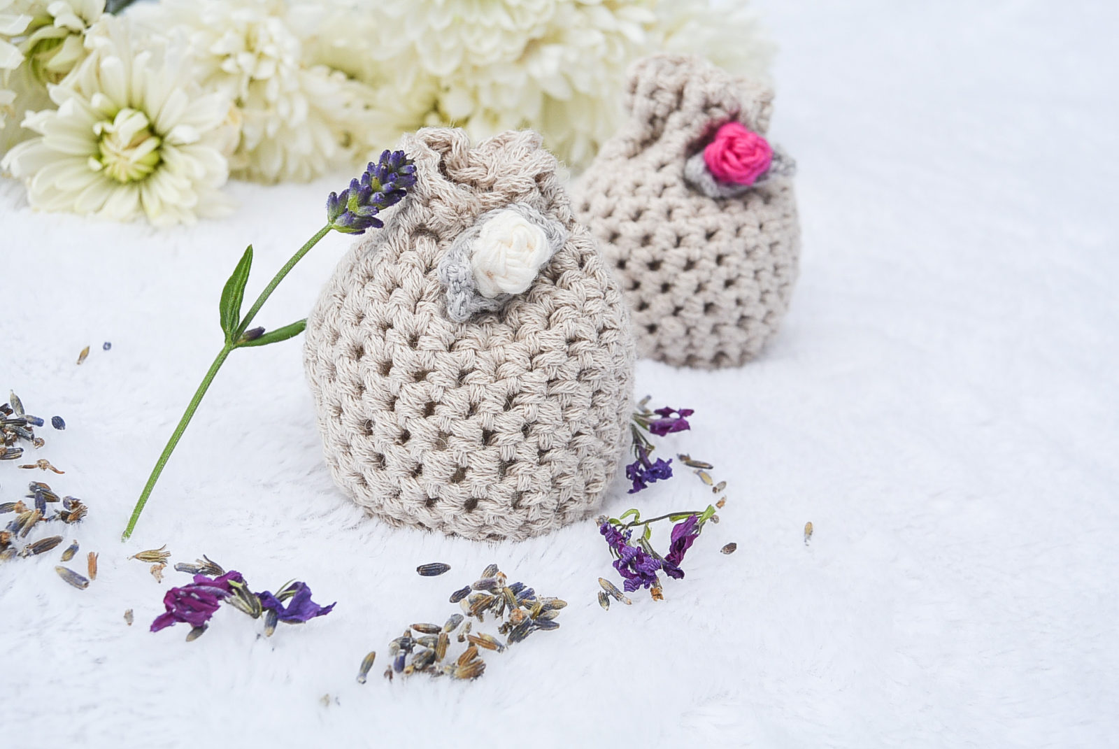 Lovely Lavender Crochet Sachets by Mama in a Stitch