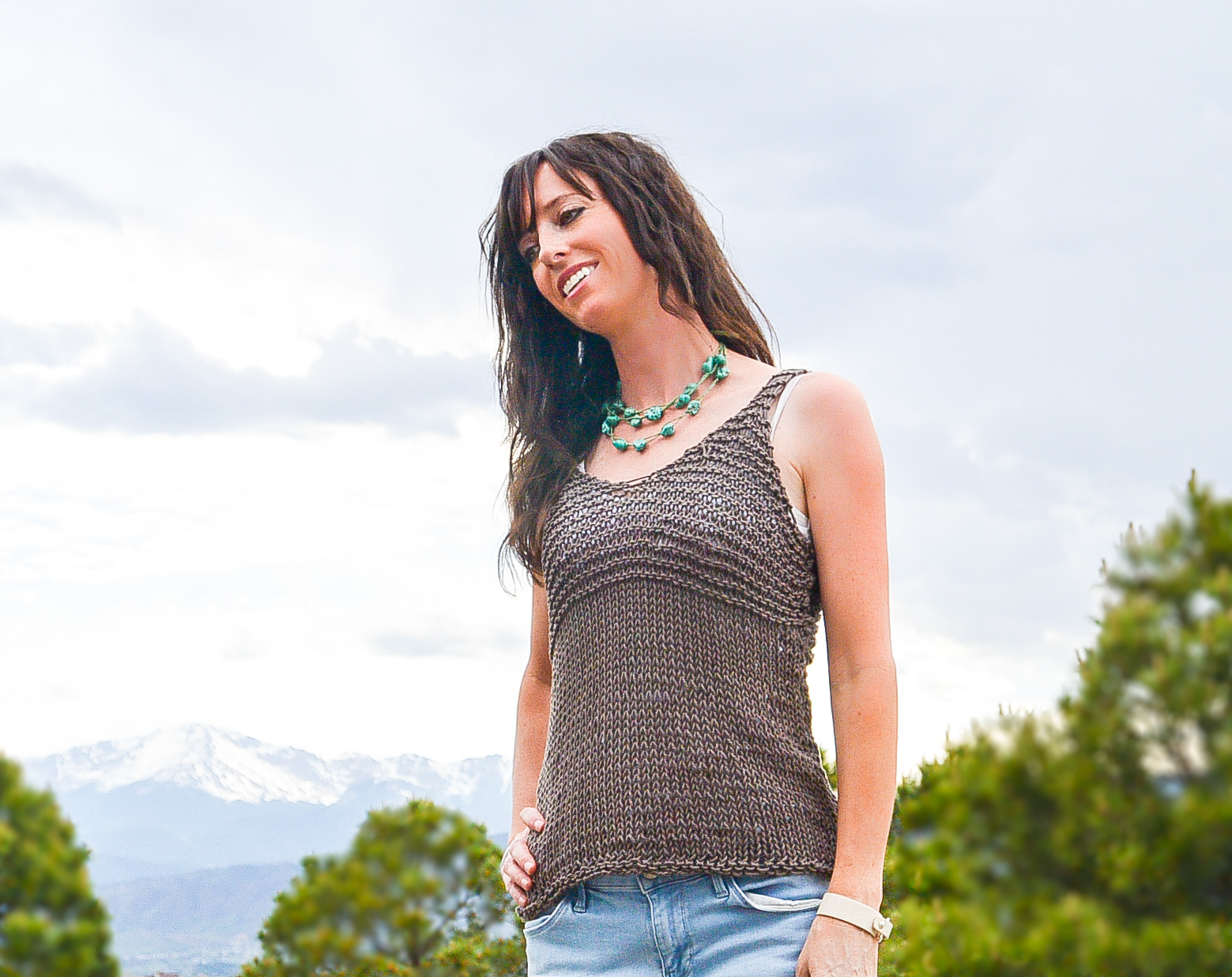 Simple Cocoa Knit Sleeveless Top Pattern – Mama In A Stitch