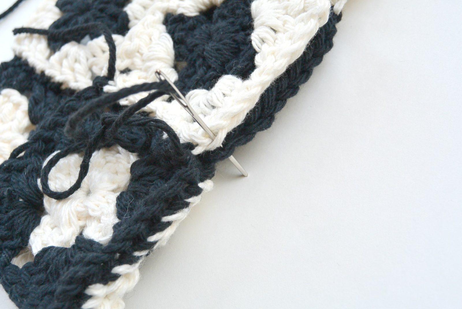 Modern Granny Square Crochet Potholder Mama In A Stitch