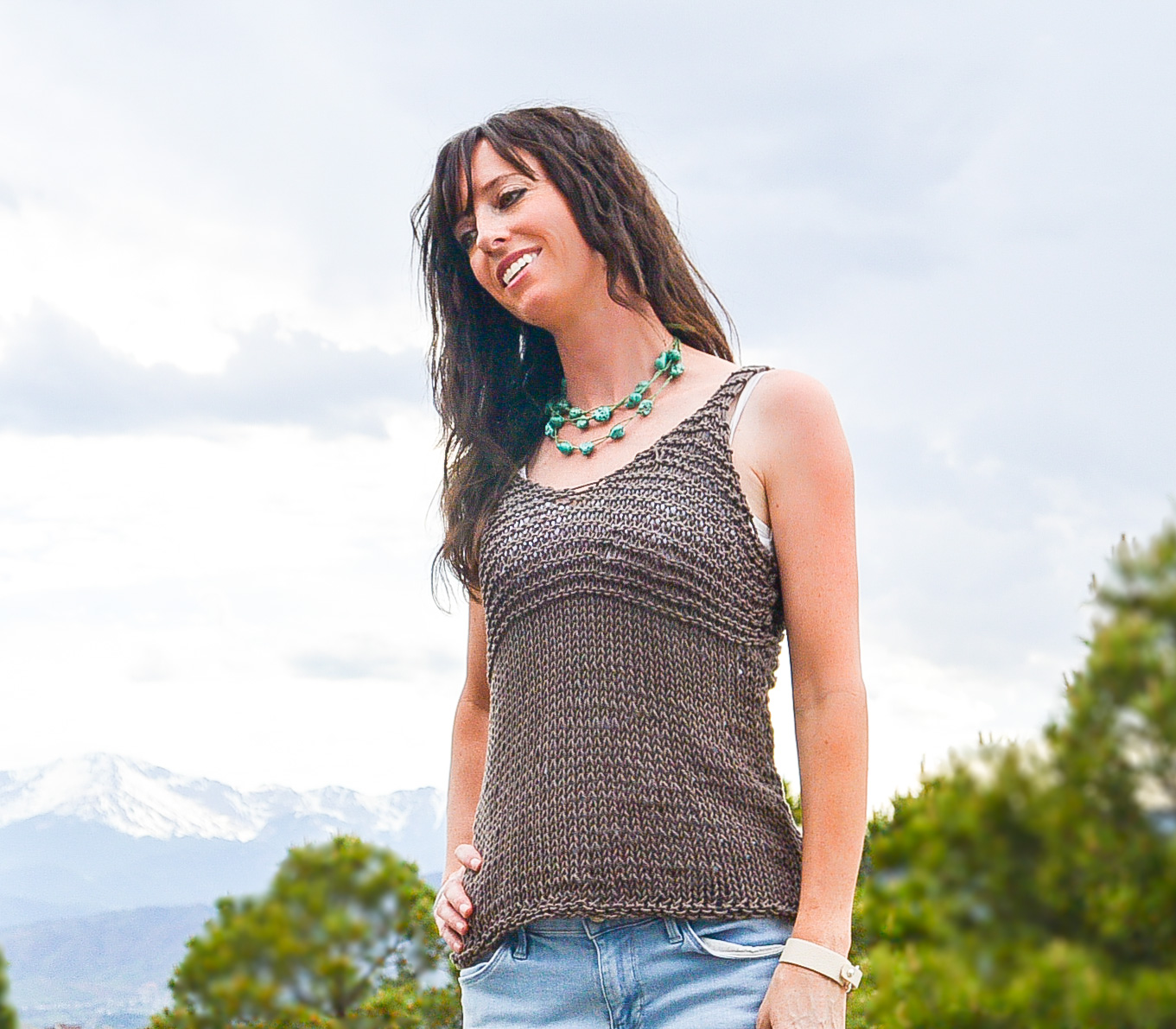 Simple Cocoa Knit Sleeveless Top Pattern Mama In A Stitch