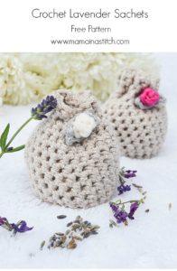 Lavender Crochet Sachet Pouches