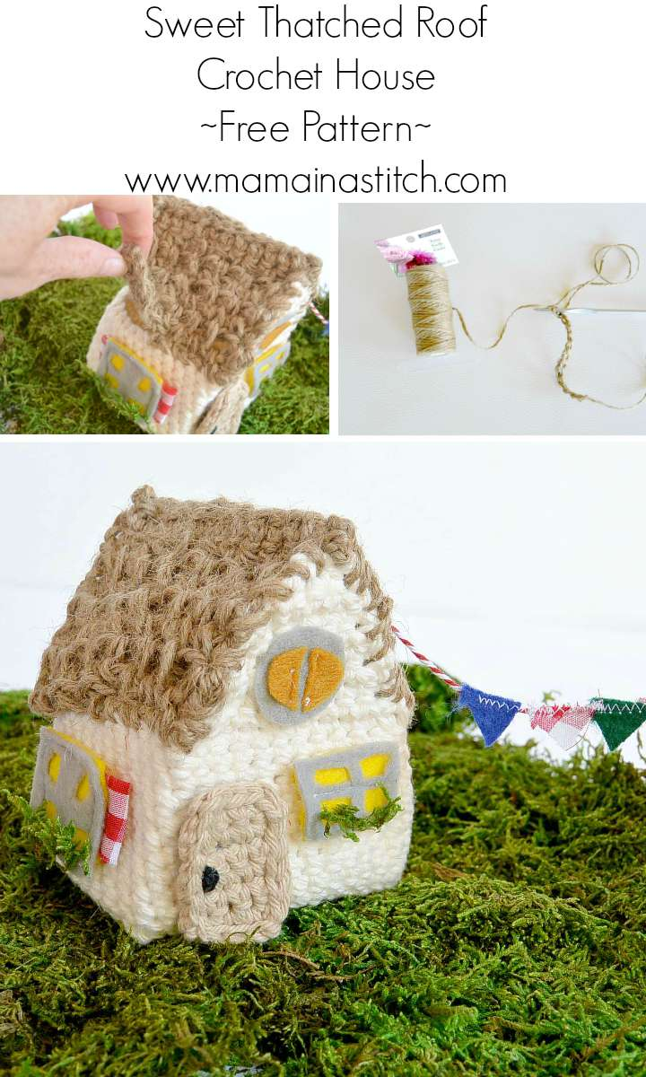Little thatch roof crochet house mama in a stitch for House pattern