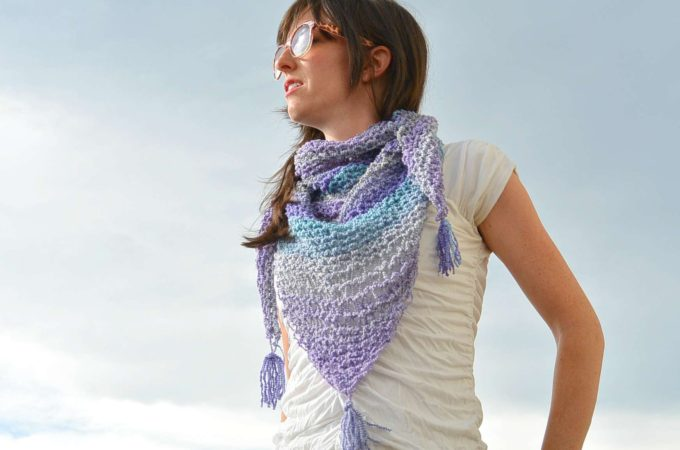 Knit Shawlette Pattern with Video Tutorial