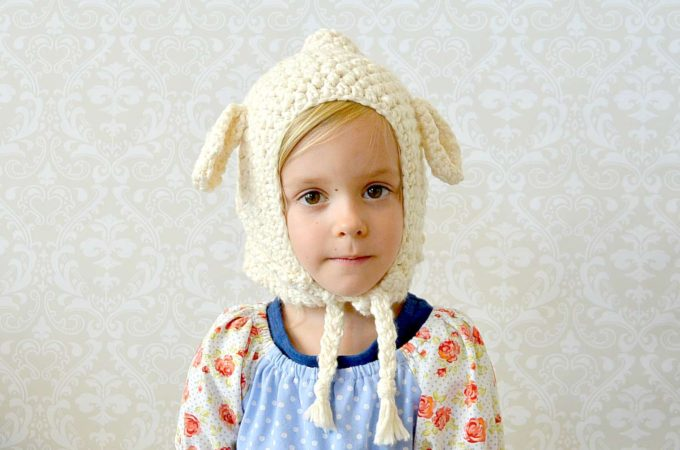 Vintage Style Lamb Hat – Toddler Crochet Lamb Hat