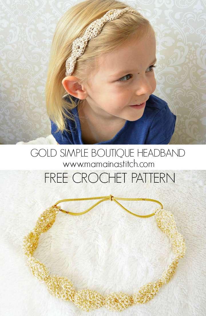 Provence Gold Fleck Headband\