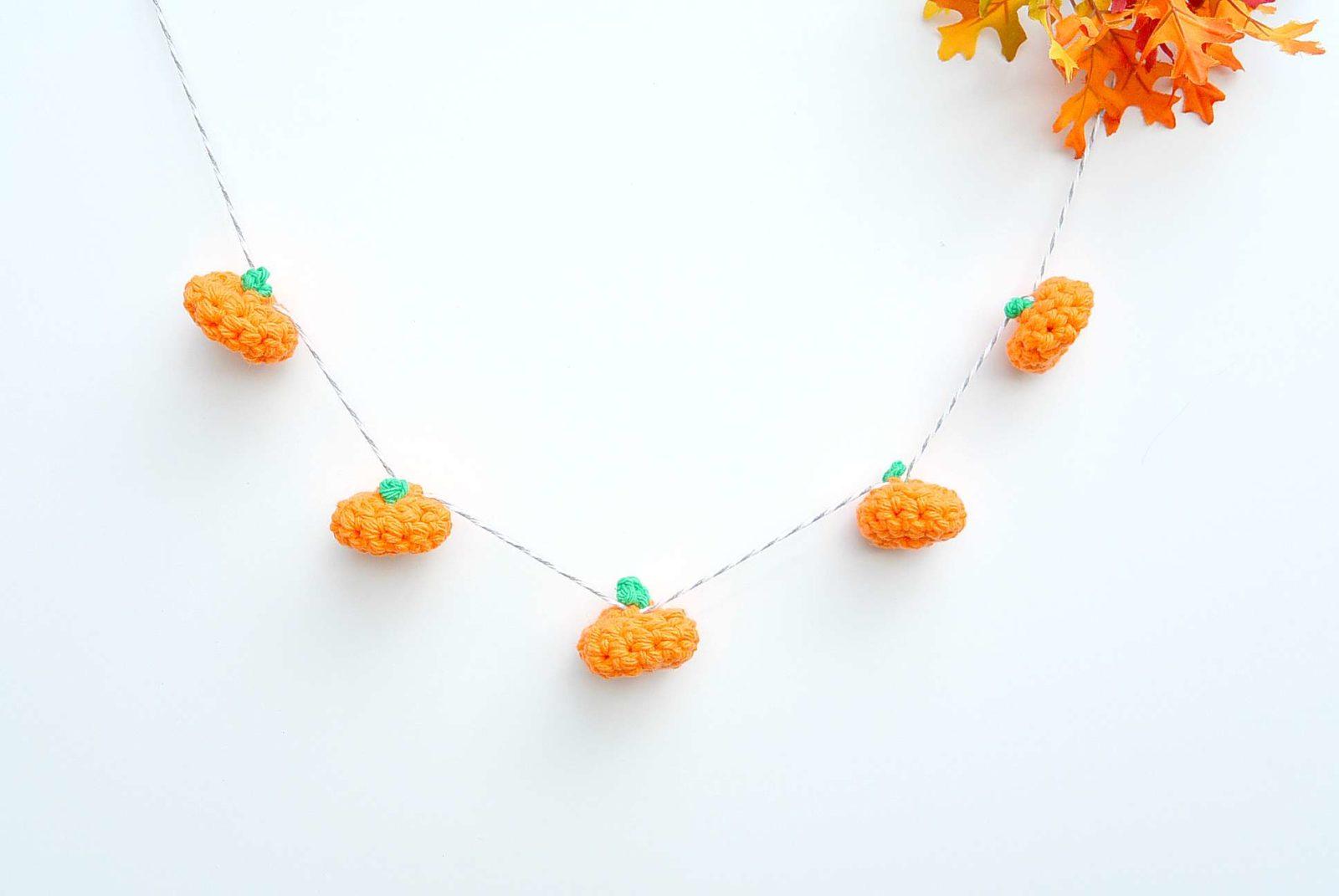 Little Crochet Pumpkin And Garland Mama In A Stitch