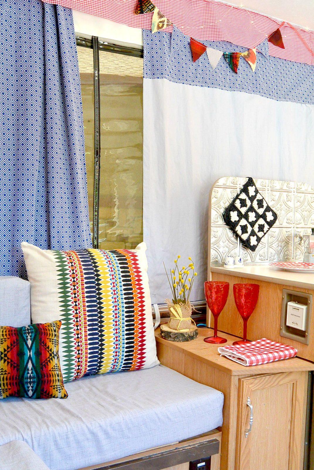 Yarn Break – Camper Remodel (Sewing, sewing, crochet, oh my!)