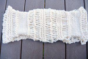 Chunky Knit Pattern Scarf
