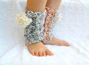 Chunky crochet leg warmers