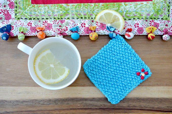 Cutie Seed Stitch Coasters