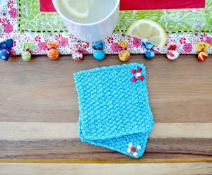 Easy Knit Coasters Seed Stitch
