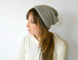 Crochet Slouch Beanie Free Pattern Easy 2