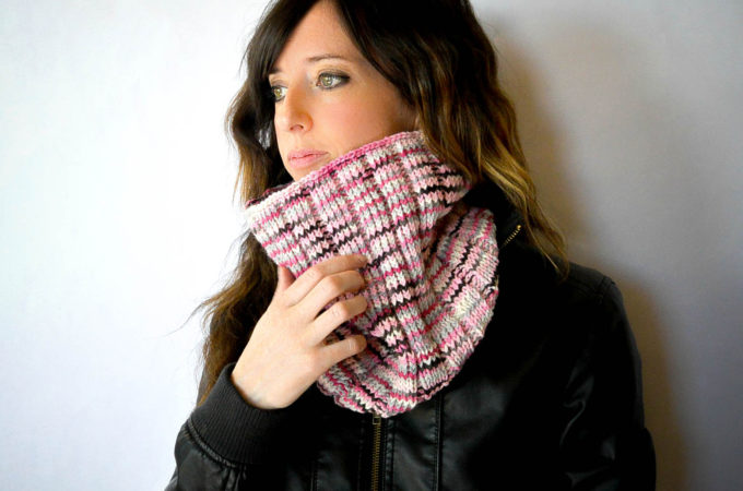 Pattern Time!  Wide Ribbed Neopolitan Knit Cowl
