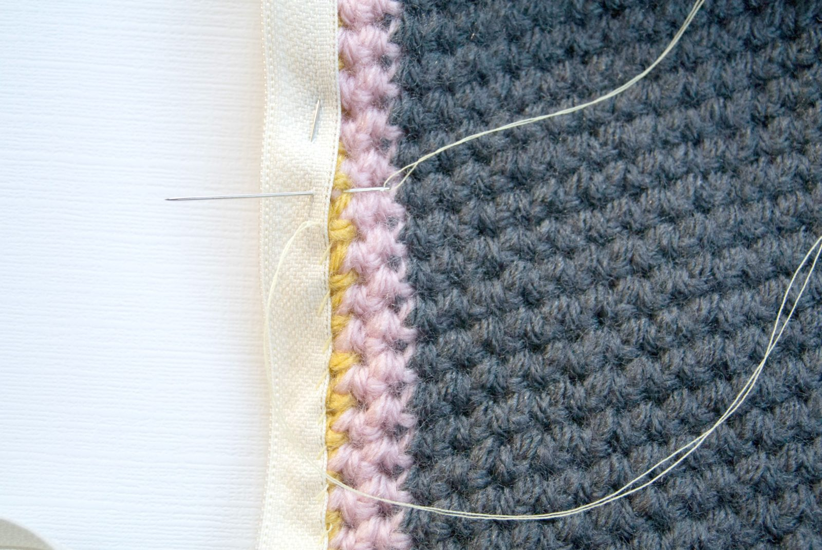 Crochet Whip Stitch : attaching the zipper with a whip stitch, which worked for me. I ...