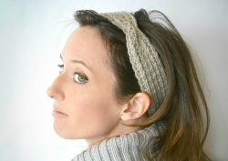 Fisherman Stitch Knit Headband