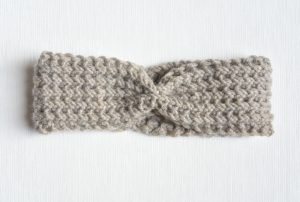 Fishermans Rib Knit Headband Downton Abby