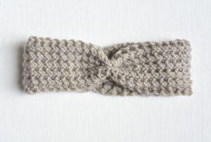 Fishermans Rib Knit Headband Downton Abby