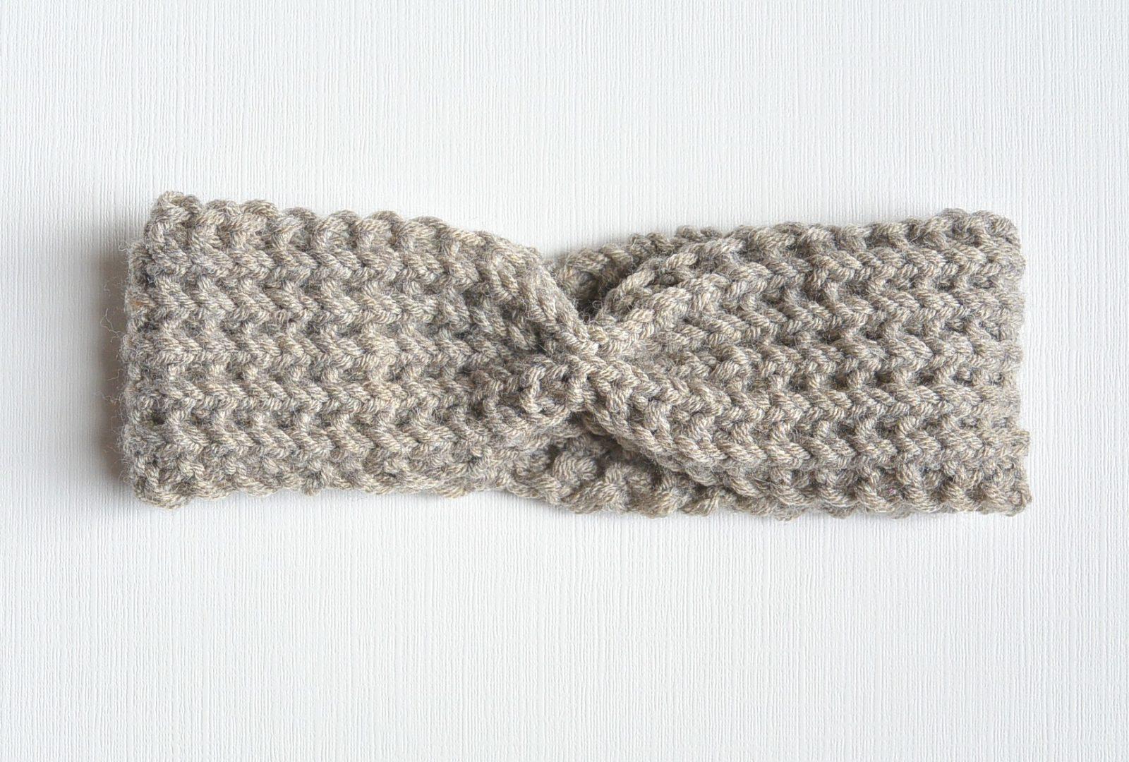 Half Fisherman Knit Headband & Downton Abbey Yarn