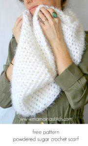 Free Pattern Powdered Sugar Crochet Scarf