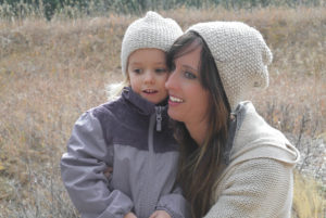 Mommy and Me Knit Hat Pattern Pic